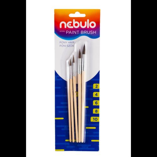 Ecset készlet natúr fa nyél 5 db klt NEBULO