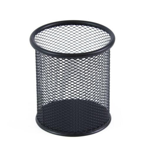 Fémhálós írószertartó pohár kerek fekete Bluering