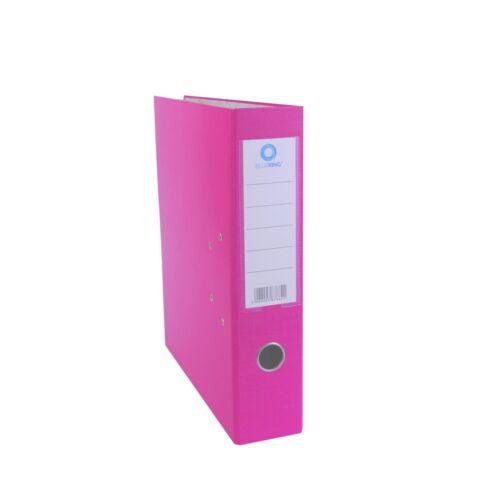 Iratrendező A4, 7,5 cm, lapraszerelt, BLUERING Eco rózsaszín