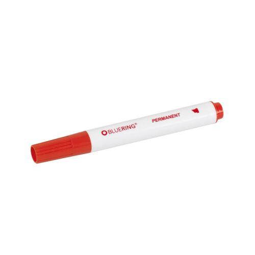 Permanent marker 1-4mm vágott végű  BLUERING piros