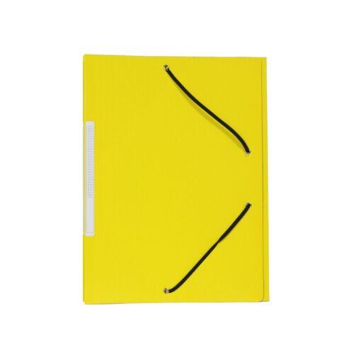 Gumis mappa karton 300gr sarok gumírozással sárga