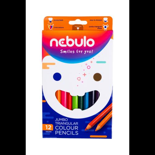 Színes ceruza vastag háromszög 12 db-os NEBULO