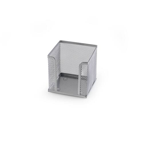 Fémhálós kockatömbtartó ezüst 10x10x8 cm 41204