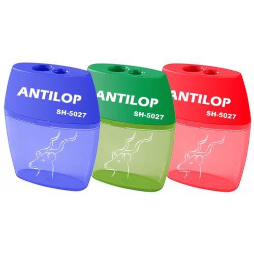 Hegyező 2lyukú műanyag tartályos ANTILOP SH-5027