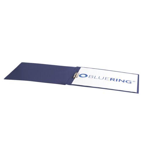 Villámzáras mappa műanyag A3 kék fekvő