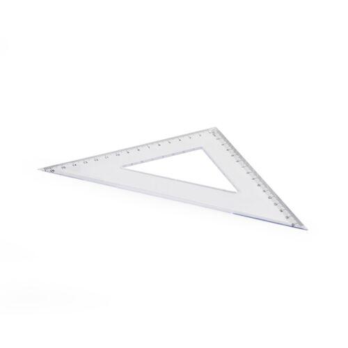 Vonalzó háromszög 45 fokos 17 cm műanyag
